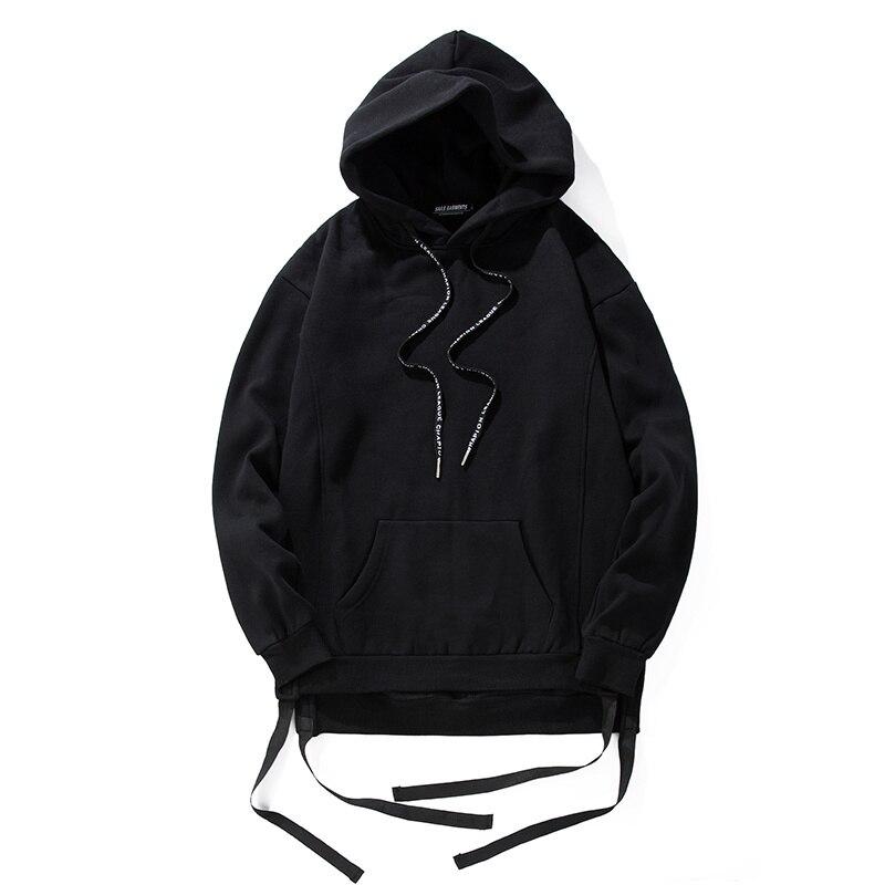 Plain Hoodie Black Pullover Men'S - Hardon Clothes