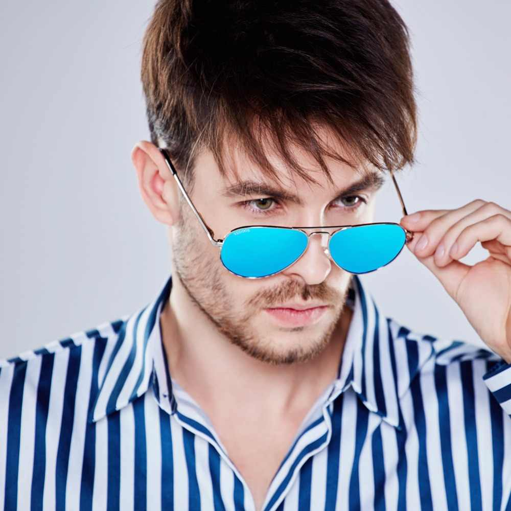 VEGOOS Real Polarized Men Pilot Aviation Sunglasses Flash Mirrored Lens Women Brand Designer High Quality Sun Glasses #3025MC