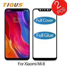 TIQUS Full Cover Screen protector For Xiaomi Mi 8 Tempered Glass Protective film Explosion-proof Mi8 2 PCS