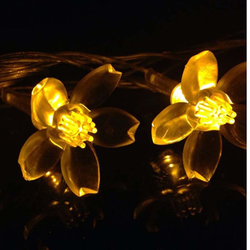 Christmas New Year Light Luminaria Outdoor 110V/220V 10M 50 Led LED Fairy String Lights Cherry Blossoms Natal Wedding Decoration