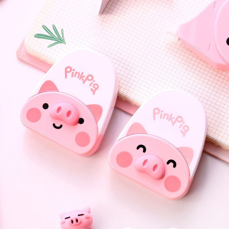 Cute Pink Pig Decortaion Correction Correcting Tape Stationery Corrector School Office Supplies Student Kids Gifts