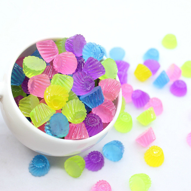 10pcs Sweet Candy Slime Charm Beads Phone Case Decoration