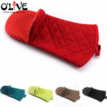 1 Pc Oven Gloves Silicone Kitchen Mitts Baking Barbecue Cake Bakeware Heat Resistant Silicone Cooking Glove Mitten Potholder