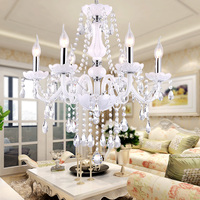 Modern K9 Crystal Chandelier Lighting Cristal Lamp Chandeliers Hanging Lights White Glass Chandelier Light For Home