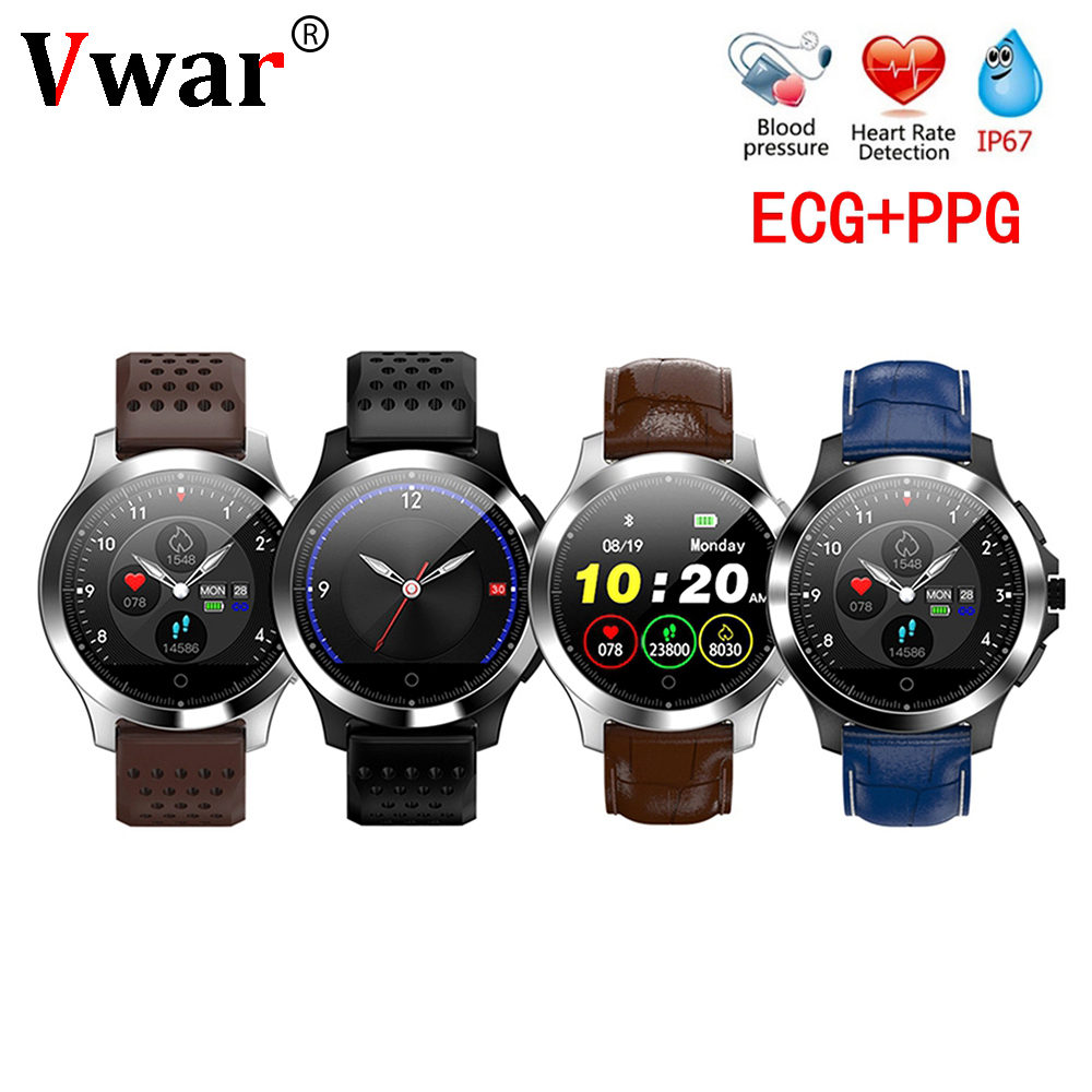 N58 Ecg Ppg Smart Watch With Electrocardiograph Ecg Display Heart Rate Monitor Blood Pressure Mesh Steel Smartwatch Beautiful In Colour Watches