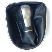 5speed 6 Gear MT Car Gear Shift Knob with Leather boot For SEAT LEON II (2005-2012) ALTEA XL (04-12)  SEAT TOLEDO III (04-09) цены онлайн