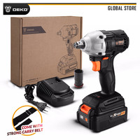 DEKO GBW20DU2 20V Max Brushless Electric Impact Wrench 4000mAh Lithium Ion Battery 2000 rpm 310 Nm Torque for Home DIY