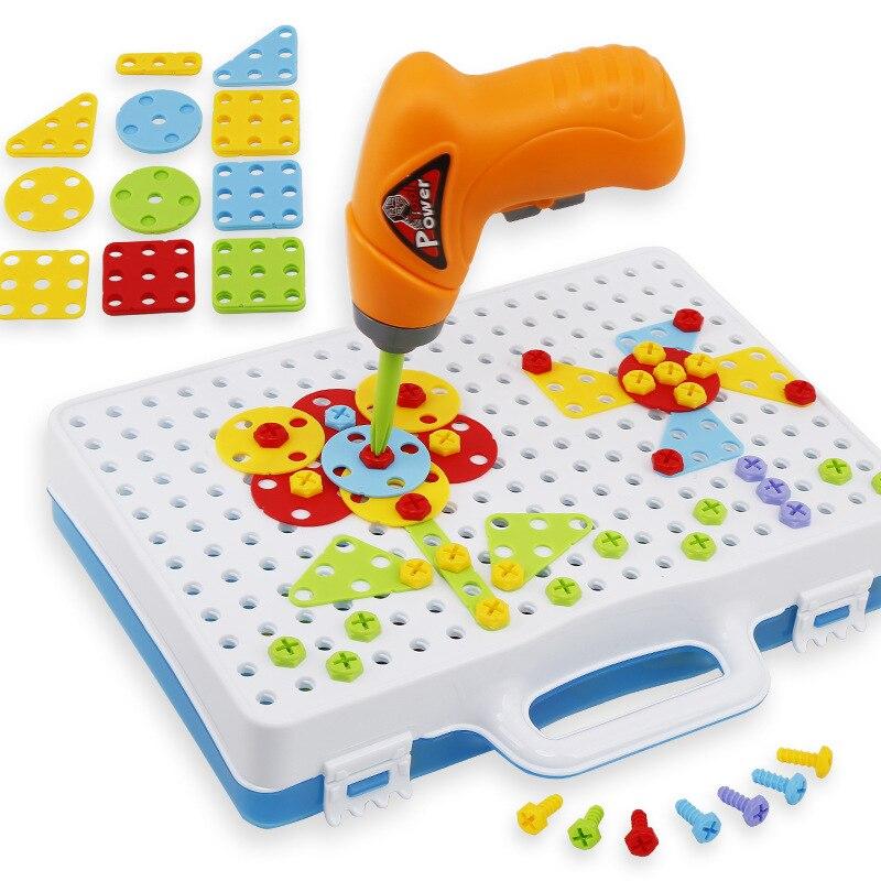 quebra-cabeça construção brinquedo broca brinquedos educativos criativos