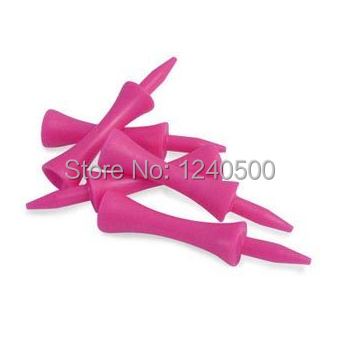 Free Shipping! 100pcs+60MM Plastic Pink Golf Castle Ball Tees Golfer Club Practice Accessory Sports