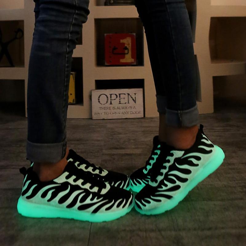 Confortable Marche Lumineux De Shoes Shoes glowing Deportivas Plein Casual Lumineuses Up En Air Light Hommes light Shoes Luminous Chaussures Appartements Zapatillas WxqnE1CF