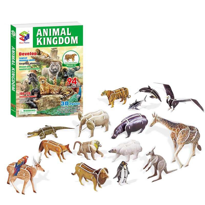 3d Papier Legpuzzels Voor Kinderen Diy Kids Dieren Cars Planes Insecten Dinosaurussen Fire Gevechten Vroeg Leren Speelgoed Doos Gift Sterke Weerstand Tegen Hitte En Hard Dragen