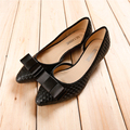 Gray Black Dark Blue Pointy Toe Shallow Mouth Side Hollow Out Large Size 40 41 Low Spike Heels Womens Single Shoes Discount