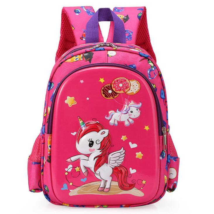 New Kindergarten School Bag Cartoon Unicorn Baby 3-6 Years Old Children Backpack Boy Girl Travel Backpack