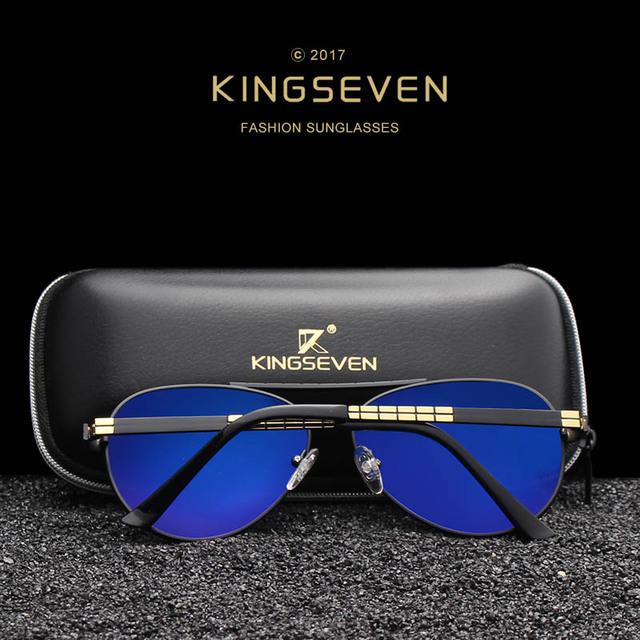 KINGSEVEN Men's NEW Fashion Sunglasses Polarized Pi'lo't Mirror Lens Eyewear Accessories Driving Sun Glasses Shades UV400 K740