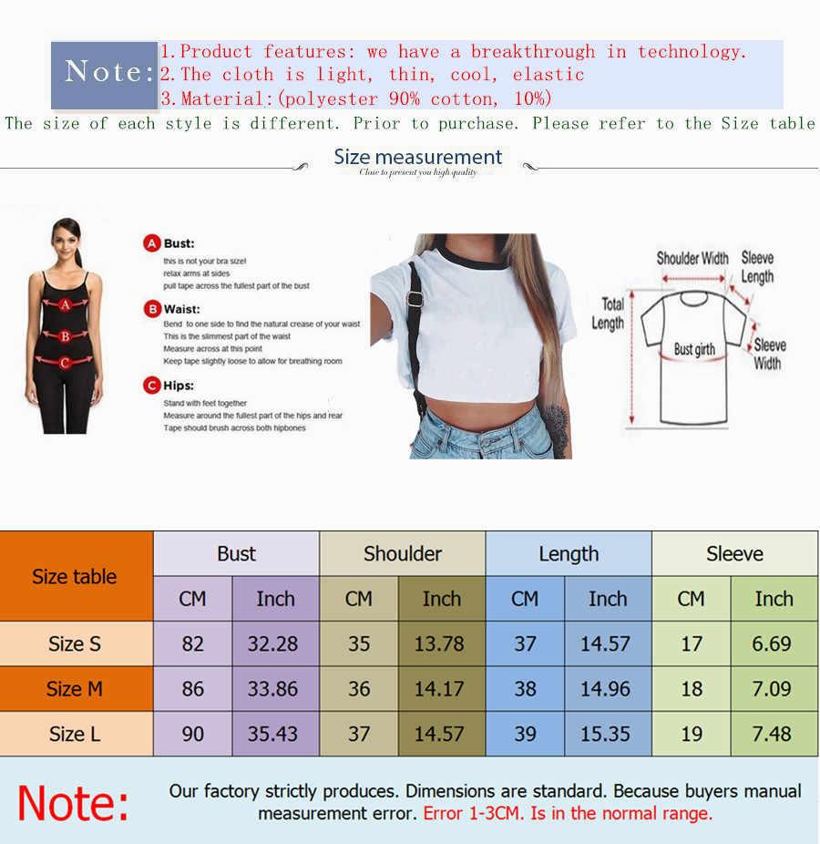 Été Crop hauts 2019 étranger choses imprimé T Shirt femmes Montauk à manches courtes T-shirt coréen mode Streetwear Vogue t-shirts
