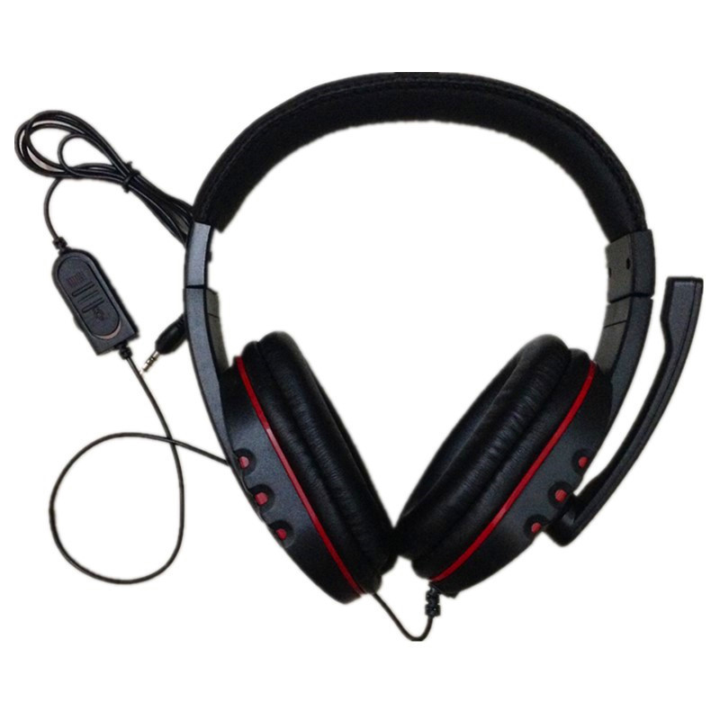 EDT-Big Wired PS4 gaming Headset earphones with Microphone Headphone for PS4 games high quality wired headphone for ps4 gaming headset headphone microphone mic chat for playstation 4 ps4 black