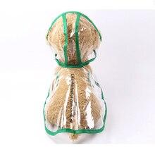 Мода Одежда для животных собака плащ прозрачный дождевик Водонепроницаемый домашних животных плащи маленьких собак Костюмы XS-2XL P46