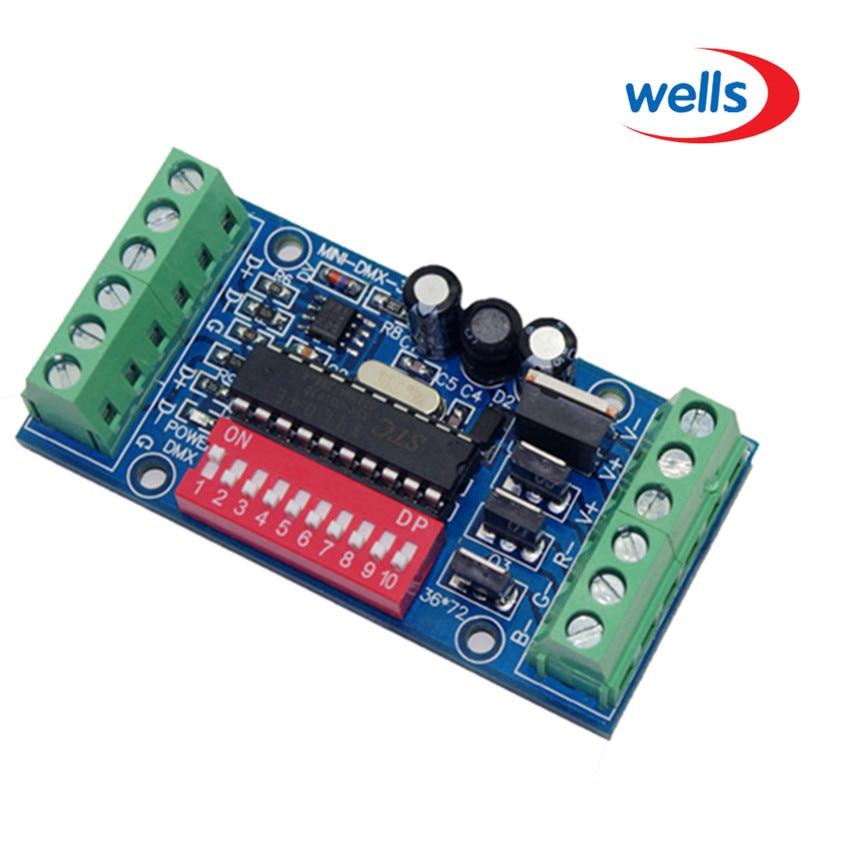 mini 3CH Easy dmx LED kontroler, subminijatura, RGB dmx512 dekoder, - Različiti rasvjetni pribor - Foto 2