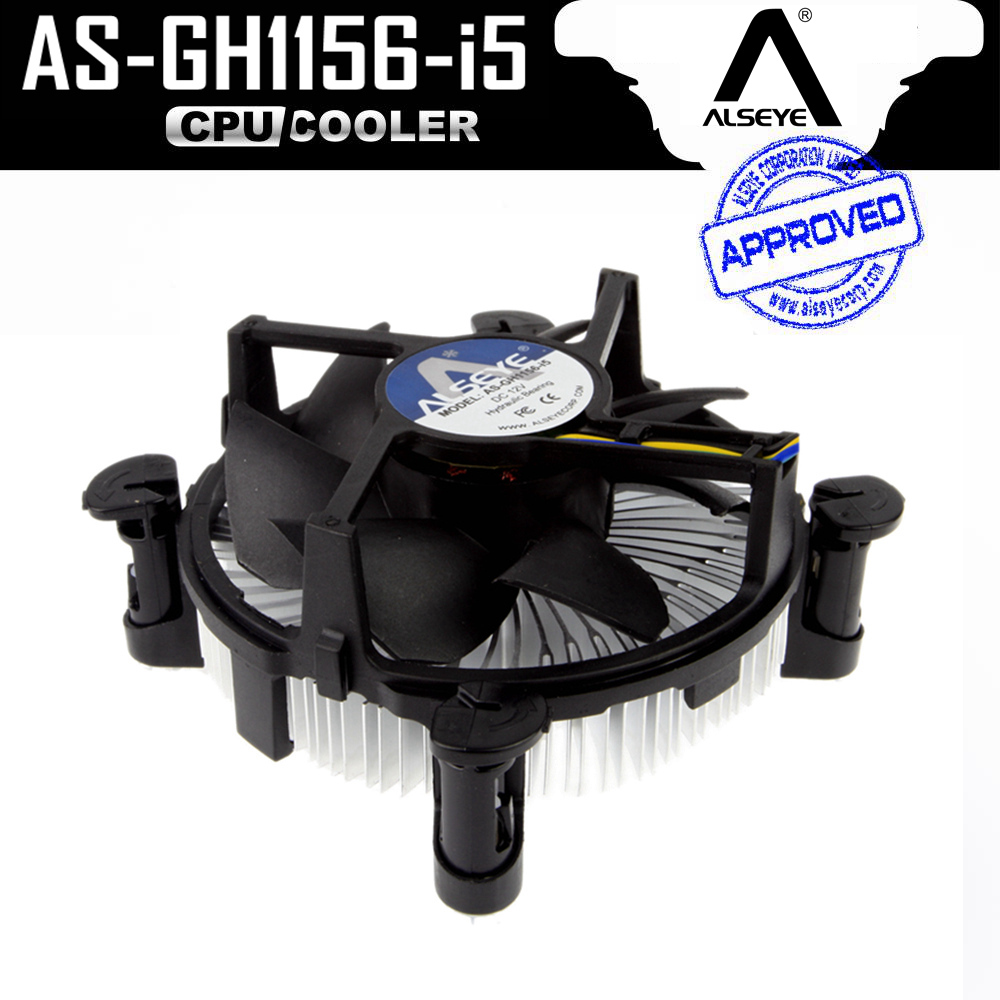 ALSEYE CPU Radiator, Aluminum Heatsink and 90mm CPU Fan Cooler for i3/i5, LGA 1156/1155/1151/1150 with Thermal Grease 2 heatpipes blue led cpu cooling fan 4pin 120mm cpu cooler fan radiator aluminum heatsink for lga 1155 1156 1150 775 amd