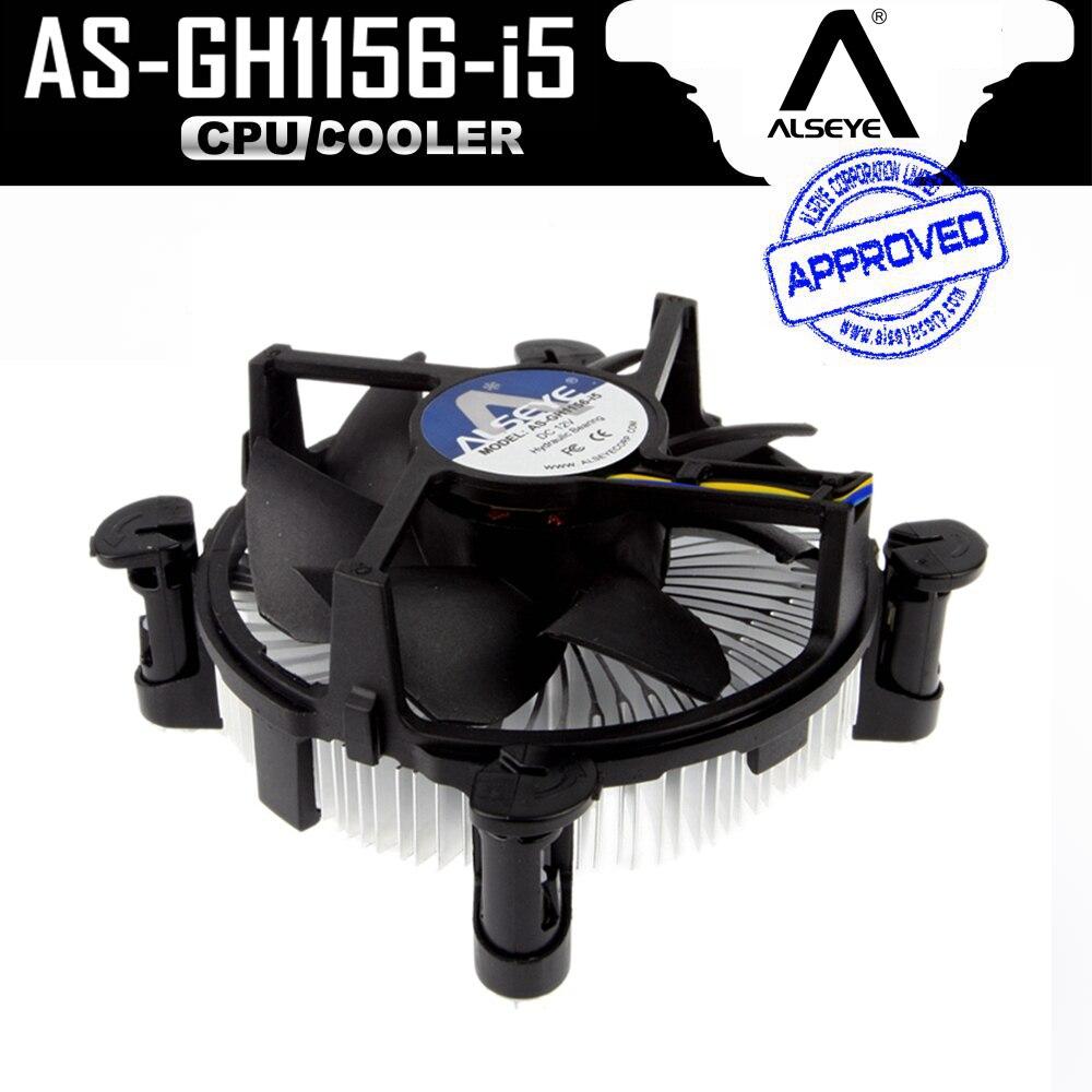 ALSEYE LGA 1155 CPU Radiatore, alluminio Dissipatore e 90mm CPU Ventola di Raffreddamento per i3/i5, LGA 1156/1151/1150 con Grasso Termico