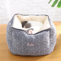 Foldable Soft Warm Pet House Pet Supplies Cat Dog Mattress Sofa Kennel Puppy Warm House Cat Dog Accessories Dog Bed Christmas