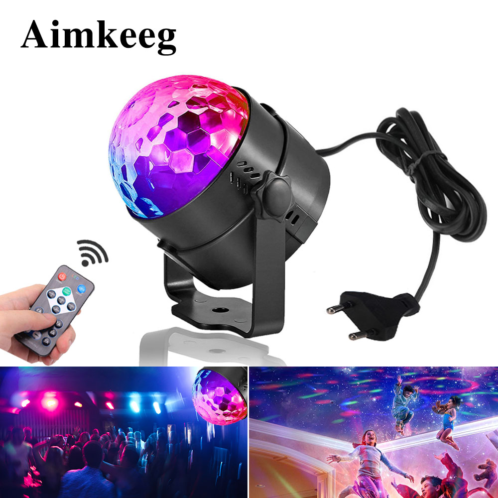 Auto Sound Activated Rotating Disco Ball Party Lights Strobe Light 3W RGB LED Stage Lights For Christmas Home KTV Wedding lightAuto Sound Activated Rotating Disco Ball Party Lights Strobe Light 3W RGB LED Stage Lights For Christmas Home KTV Wedding light