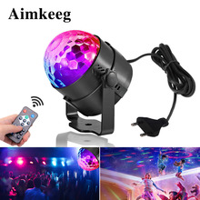 Auto Sound Activated Rotating Disco Ball Party Lights Strobe Light 3W RGB LED Stage Lights For Christmas Home KTV Wedding light
