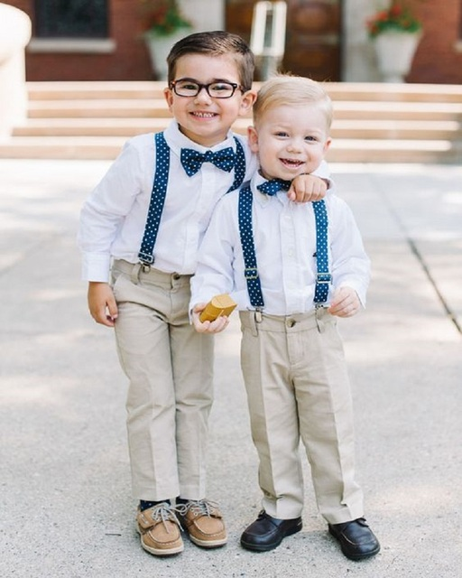 2017 New Arrival Summer Cute Boys Attire For Beach Wedding Kids Tuxedos Pageant Groom Suit High