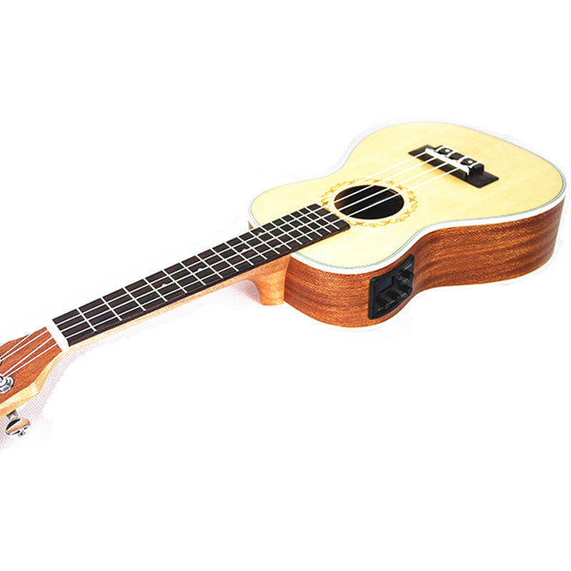 23 inch Ukulele Concert Hawaiian 4 Strings guitar Acoustic Electric Mini Guitar Ingman spruce panel Ukelele With pickup EQ free hardcase with nature sj200 electric acoustic guitar with pickup eq hot sell da003a solid spruce body and maple top back