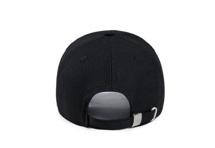 Solid Cord Colors Adjustable Baseball Cap - Black Cap Rear View