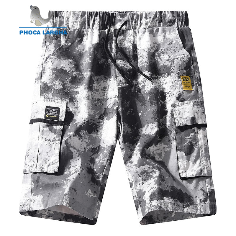 New Cargo Shorts Men's Camouflage Summer Cotton Casual Men Short Pants Brand Clothing Multi-pocket Camo Men Cargo Shorts 7XL