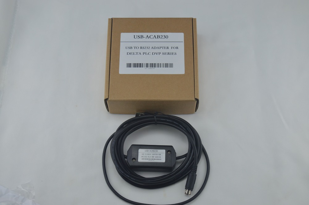 USBACAB230 (USB-ACAB230):USB-DVP USB PLC programming cable for Delta DVP series PLC 1pc used ge plc programming cables pac series versamax series 90 series usb interface programming cable
