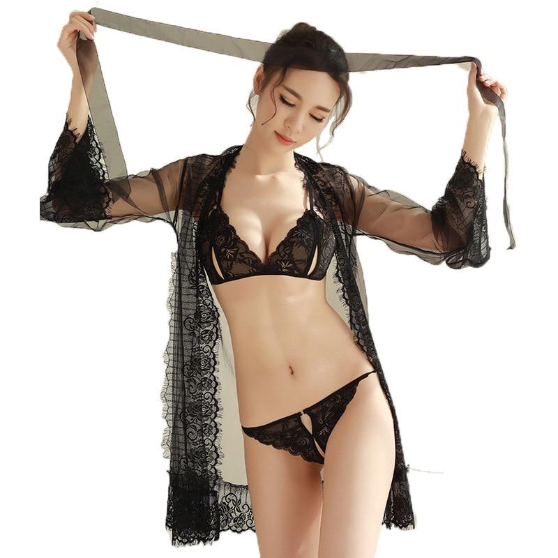 Exotische Kleidung Exotische Damenbekleidung Candiway Sexy Dessous Frauen Babydoll Transparent Exotischen Kleid Kleider Sexy Unterwäsche Nachthemd Schlafanzug Chemises Netz Kleid Online Rabatt