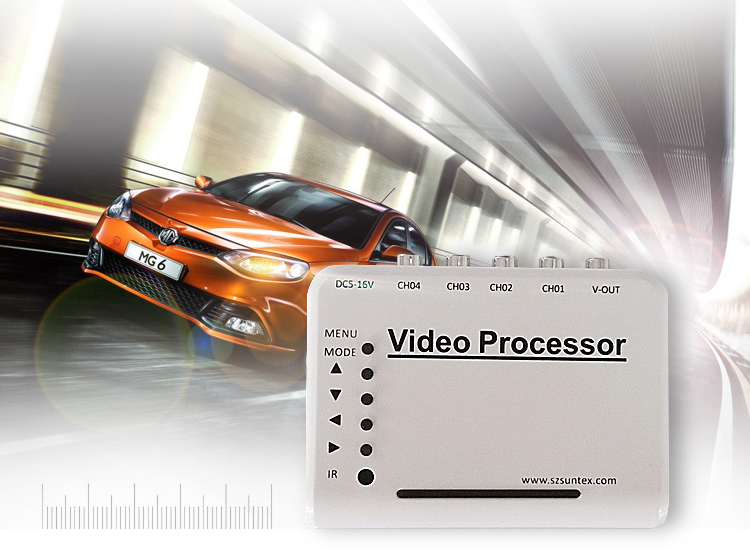 4-CH Channel DVR CCTV Quad Video Camera Processor System kit Splitter Switcher AV Connector wavelets processor