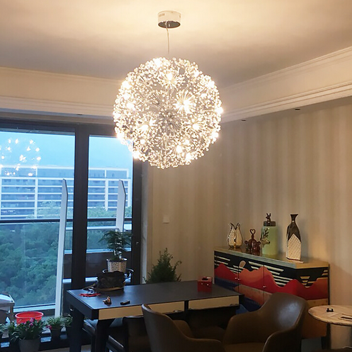 Modern Pendan Lights Chrome Vanity Suspension Crystal Lamp Hanging G4 LED Lighting Lustre For Living Room