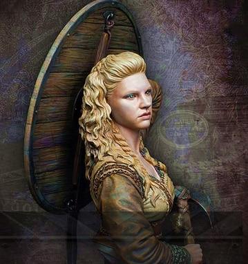 1/10 Resin Bust Model Kits Viking Woman  25D