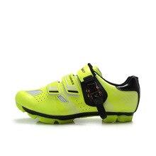 TIEBAO/Профессиональная обувь для велоспорта, MTB горный велосипед, самоблокирующаяся обувь для мужчин и женщин, Нейлоновая подошва из стекловолокна, спортивная обувь