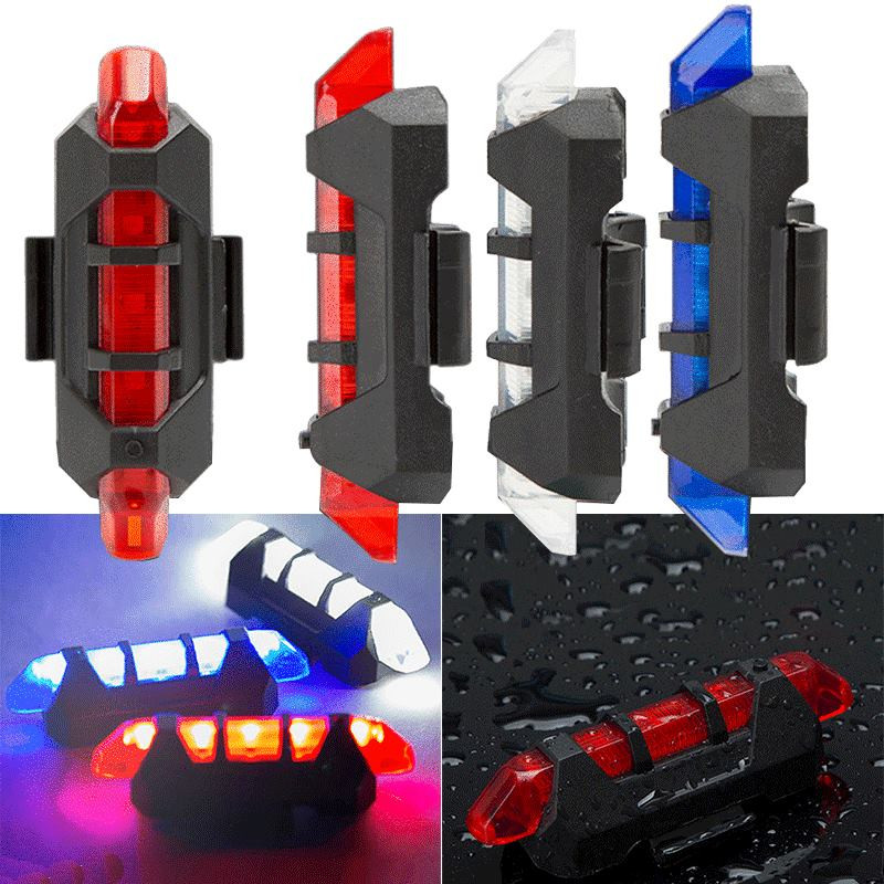 Bicycle Light Waterproof Rear Tail Light LED USB Rechargeable Mountain Bike Cycling Light Taillamp Safety Warning Light