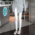 Pantalones de maternidad moda para mujeres embarazadas Color sólido pantalones embarazo Leggings elástico de maternidad / ropa 8 Color