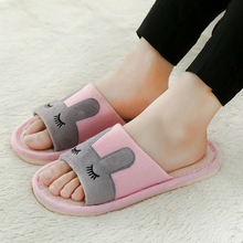 Cute Japanese Style Lovely Linen Cotton Slippers Women Indoor Non Slip Soft Bottom Couple Wooden Floor Slippers Hemp Home Shoes