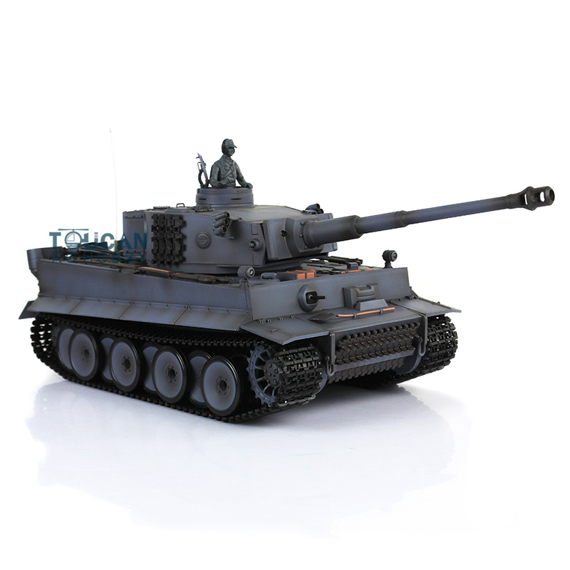 цена на HengLong 1/16 Gray German Tiger I RTR RC Tank Model Upgraded Metal Version 3818 2.4Ghz