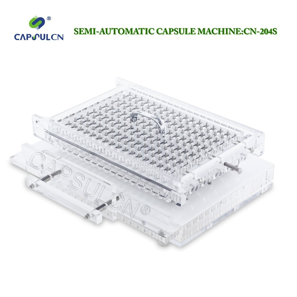 (204 holes) Size 4 CapsulCN-204S Semi-Automatic capsule filler/Capsule Filling Machine/Fillable Capsules Machine semi automatic liquid filling machine pneumatic semi filler piston filler semi automatic piston