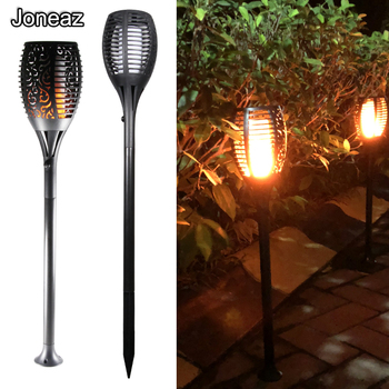 2X IP65 Flickering Solar Torches lamp Waterproof LED Dancing Flame lights Lawn Outdoor Landscape Fire Light Garden Decoration