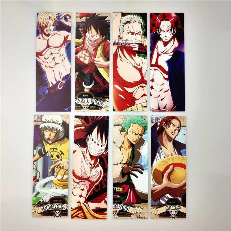Anime One Piece Bookmark Marker Gintama Naruto Bookmarks for Books Paper Papelaria Stationery Office School Accessories Gift