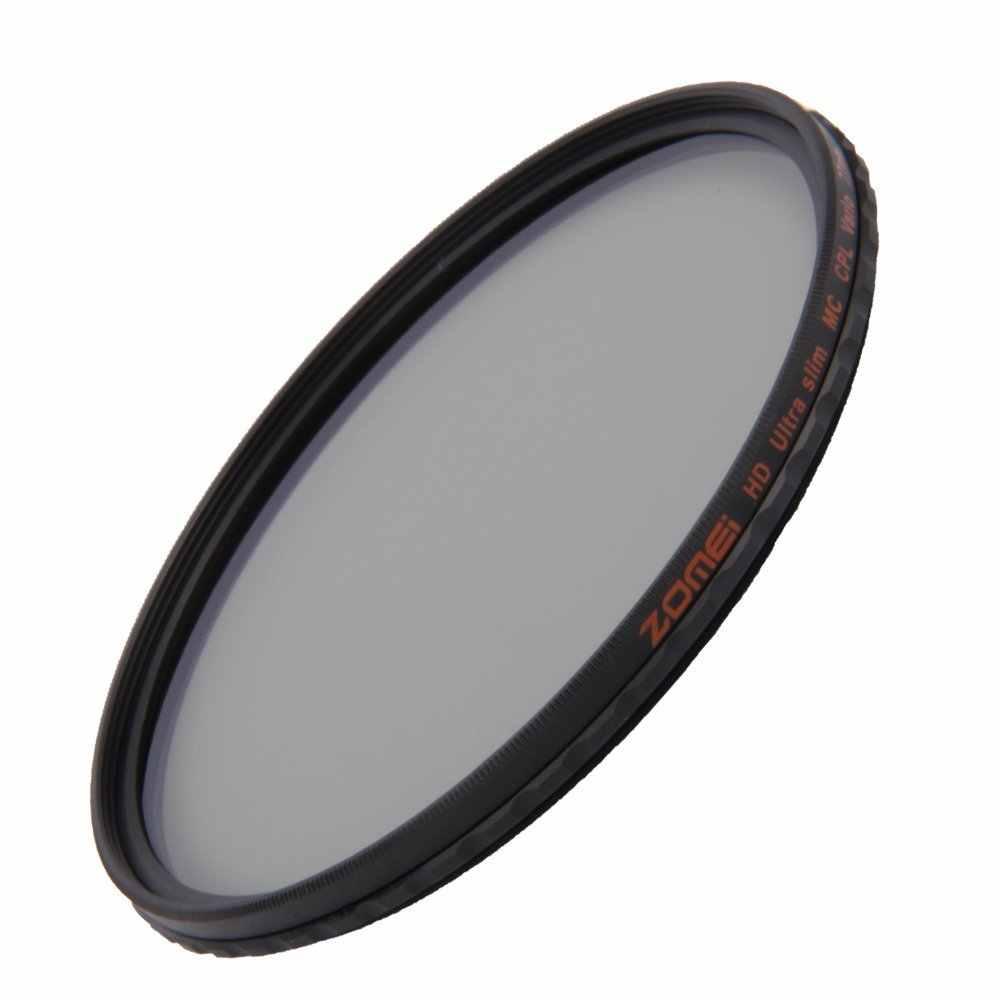 Тренога ZOMEI HD, оптическое Стекло CPL c-pl тонкий кольцевой поляризатор с многошаровым покрытием поляризационный фильтр для объектива 40,5/49/52/55/58/62/67/72/77/82 мм