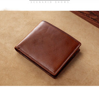 Cross-border brand quality men's wallets with coin pocket purse short male clutch leather wallet mens money bag genuine leather