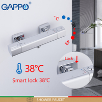 GAPPO Shower Faucets mixer thermostat taps thermostatic mixing valve bath shower for bathroom brass chrome faucet shower