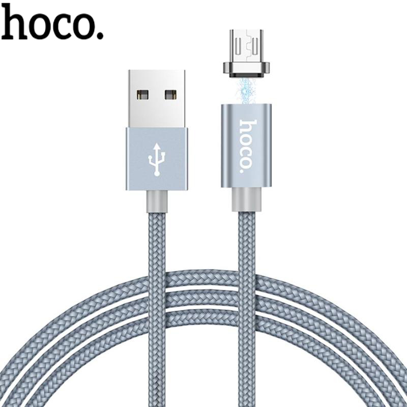 HOCO U40A 1m Braided Nylon Magnetic USB Fast Charging Data Sync Charger Cable for Android Phones Fast Charging Data Cable Wire