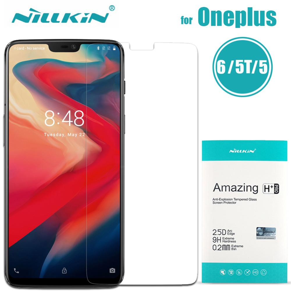Nilkin for Oneplus 6 5T 5 Tempered Glass Screen Protector Nillkin 9H Amazing H / H+ Pro Clear Glass Film For One Plus 6 5T 5