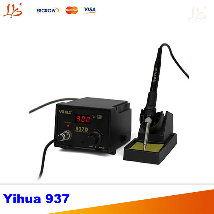 Free shipping 220V High Quality 50W Yihua 937 Soldering Station,rework machine 220v 50w yihua 937 soldering station with extra free hakko a1321 ceramic heater
